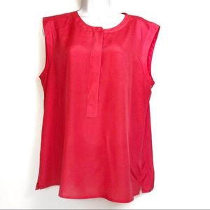 J. Crew Neon Pink Sleeveless Sheer Blouse 12